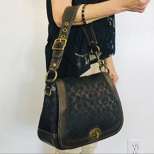 Coach Large Legacy Flap Turnlock Signature Bag